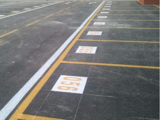 停车位编号数字划线字母标线